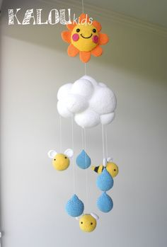 Mobile cradle , Mobile bees Mobile Nursery by Kaluu on Etsy