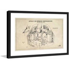 Marmont Hill Interior Licensed Smithsonian Framed Art Print, Size: 36 inch x 24 inch, Multicolor