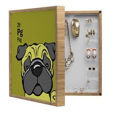 Angry Squirrel Studio Pug 29 BlingBox Petite | DENY Designs Home Accessories