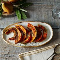 Miso honey glazed butternut squash