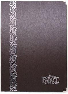 Speisekarte LUCIS A4 - metallisierte Buchbinderpapier