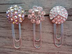 Upcycled Vintage Button Paper Clip Set of 3 by TheBlackCatCellar, $7.00