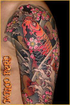 tatuaje brazo completo japones - Buscar con Google