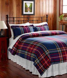 Plaid Flannel Comforter Cover.Love this for Winter bedding