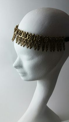 Odalisk goldplated  headpiece headband bandeau or necklace Ethnic  Orient Egypcian by Marco Apollonio