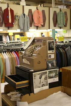 Vintage cash register, Goldmann's Department Store, Milwaukee, WI, via Flickr.