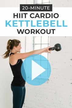 Burn calories and build cardiovascular endurance with this HIIT CARDIO Kettlebell Workout! Five of my favorite kettlebell exercises in one, challenge kettlebell cardio workout; designed to burn calories, build lean muscle, and keep you heart healthy! Fitness Workouts, At Home Workouts, Fitness Tips, Fitness Motivation, Fitness Nutrition, Lifting Motivation, Fitness Memes, Amrap Workout, Insanity Workout