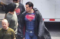 Henry Cavill in full Superman Suit
