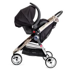 Baby Jogger City Mini (~$250): If you want to skip the stroller frame and get a lightweight, all-purpose stroller you can use with a car seat, this is my original favorite; fits most car seats with adapter. Check out more details here: http://www.lucieslist.com/baby-registry-basics/baby-strollers/#cityMINI
