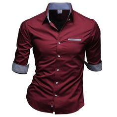 Slim Fit Fashion Men Shirt Casual Half Sleeved Chemise Homme Pure Shirt