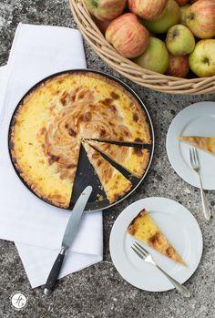 Apfeltarte mit Vanilleguß – ran an die neuen Äpfel!