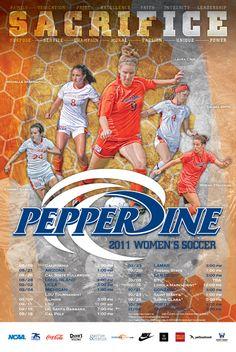 2011 Pepperdine University Women's Soccer Poster