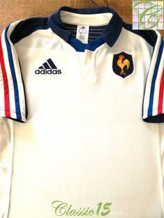 Official Adidas France away rugby shirt from the 2013/14 international season.