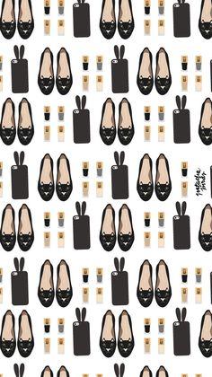 Black Designer Chanel iPhone Home Wallpaper @PanPins