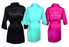 Custom Bling Melville Font  Silk Robe - Luxurious Personalized Silk  Robe - Girls Sizing Now Available! by WeSpeakSparkle on Etsy