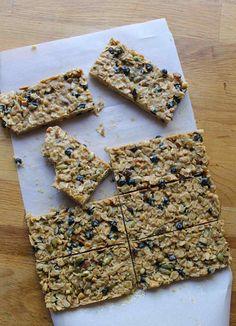 19. PB & J No-Bake Oatmeal Bars #healthy #quick #recipes https://greatist.com/health/52-healthy-meals-12-minutes-or-less