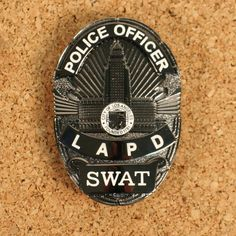Metal LAPD SWAT Police Badge