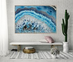Mineral Photography - (Print # 033) Blue Agate - Fine Art Print or Canvas. Price varies by size of print ($60 - $250)