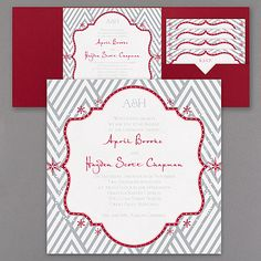 Snowflake Dazzle - Invitation