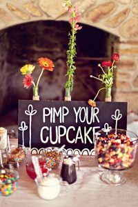 Can I have the cupcakes, like, now? Great budget wedding ideas - my guests would be drooling over those buffets