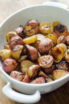Lemon and Garlic Roasted Potatoes - From Valerie's Kitchen