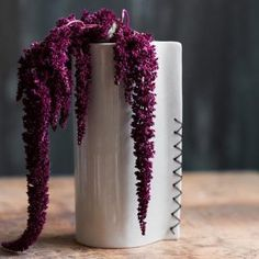 Items similar to Hand Built Porcelain Flower Vases with Waxed Linen Stitching on Etsy Porcelain Vase, Fine Porcelain, Ceramic Vase, Ceramic Flower Pots, Flower Vases, Flowers, Linen Stitch, Clay Vase, Painted Books