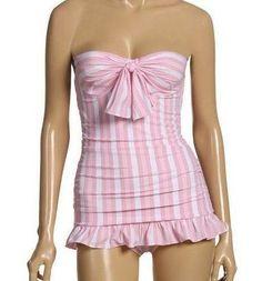 jUICY COUTURE New $179 Sweet Treat Pink Swimdress One Piece Swimsuit Medium