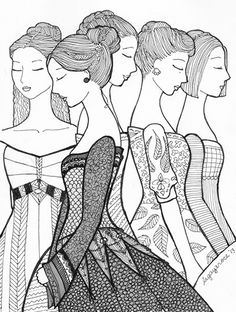 Princesses Zentangle : My Drawing Journal