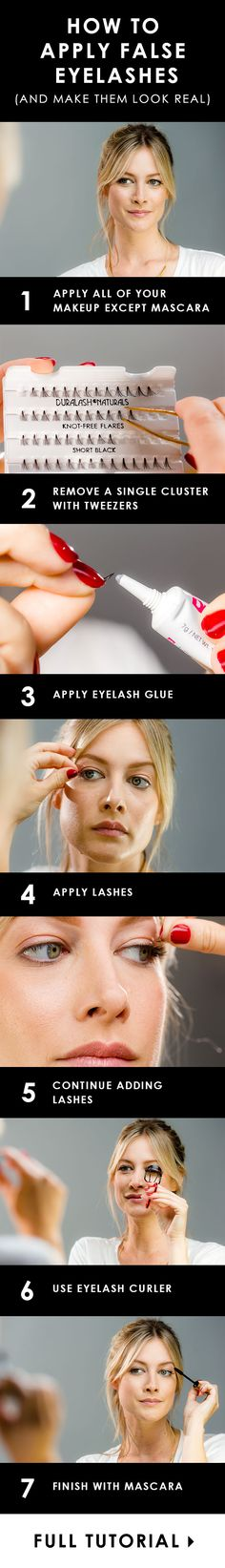 How to apply false eyelashes (and make them look real)