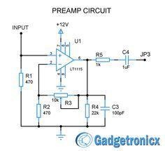 multi channel audio mixer circuit electronica pinterest elektroniken selber bauen und basteln. Black Bedroom Furniture Sets. Home Design Ideas
