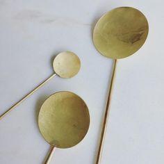 "382 Likes, 12 Comments - Kråkvik/D'Orazio (@kraakvikdorazio) on Instagram: ""Handmade brass spoons - Kneip @kneip.no"""