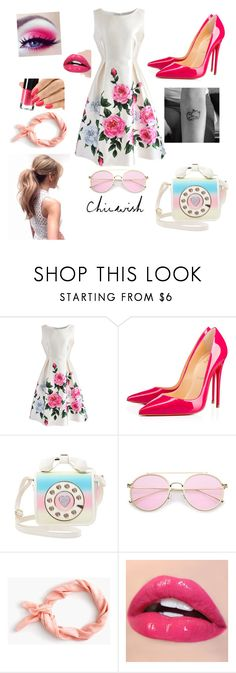"""""""chicwish"""" by gungun7 ❤ liked on Polyvore featuring Chicwish, Christian Louboutin, Betsey Johnson and J.Crew"""