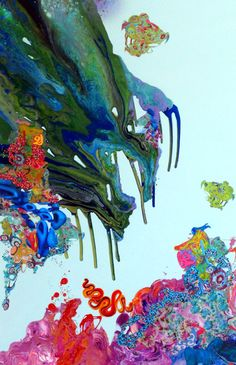 kimber berry | liquid landscape 29 | 72 x 48 inches | mixed media on canvas // www.lowegallery.com #art #painting #contemporary