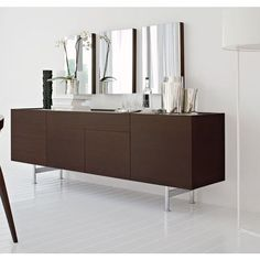 Calliagaris Horizon Buffet in Wenge and coffee glass top