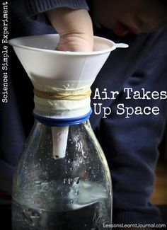 Science is a not just a body of knowledge; it is also a process of investigation. A simple experiment investigating if air takes up space.
