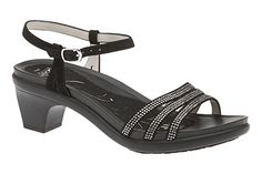 Get dolled up with the ABEO B.I.O. Grace sandal in black glitz!