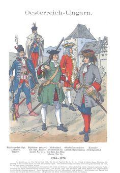 Band X #45.- Österreich-Ungarn. Infanterie. Artillerie. 1704-1720.