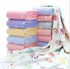 Newborn Baby Cotton Blanket Infant Thick 6 layer Aden Anais Muslin Bebe Swaddle Bedding Baby Breathable Blankets Kids Bath Towel