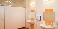 #Kindergarten #Kinderhort #Sanitärräume Kindergarten, Bathtub, Bathroom, Dormitory, School, Studying, Standing Bath, Washroom, Bathtubs