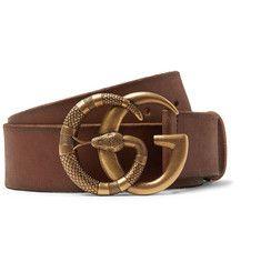 a96a7b96a Gucci - 4cm Tan Burnished-Leather Belt Gucci Fashion, Mens Fashion,  Designer Belts