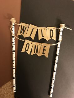 Wild One Cake Topper/ Lumberjack Birthday Cake Topper/ Rustic Smash Cake Topper by BellsNBerries on Etsy https://www.etsy.com/listing/494848492/wild-one-cake-topper-lumberjack-birthday