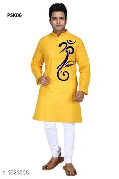 Kurtas Men's Trendy Stylish Poplin Hand Printed Kurta Fabric: Poplin Sleeves: Full Sleeves Are Included Size:  SMLXL2XL3XL4XL5XL (Refer Size Chart) Length: Refer Size Chart Type: Stitched Description: It Has 1 Piece Of Men's Kurta Work: Hand Printed Country of Origin: India Sizes Available: XS, S, M, L, XL, XXL, XXXL, 4XL, 5XL *Proof of Safe Delivery! Click to know on Safety Standards of Delivery Partners- https://ltl.sh/y_nZrAV3  Catalog Rating: ★4 (455)  Catalog Name: Men's Trendy Stylish Poplin Hand Printed Kurtas Vol 1 CatalogID_239570 C66-SC1200 Code: 535-1821868-