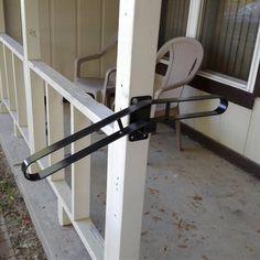 Best New Handrail Wrought Iron 1 2 Steps Steel Grab Rail Single 400 x 300
