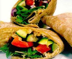 Hummus and Grilled Veggie Wrap Recipe