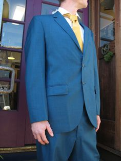 Vintage Mens Sharkskin Suit By ReCultivation