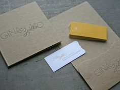 Red Organic business cards, disc sleeve, folder for Gina Zeidler Photography