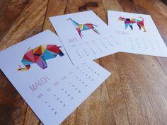 Origami Animal Calendar
