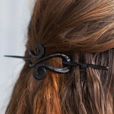 Hand-forged Hair Pin. Blacksmithed Accessories. Gifts for the Holidays. Treat Yourself.