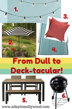 Want to make your outdoor space more enjoyable? Check out this deck makeover and mood board. Click for the source list! #KettlemanKicksAsh #Ad | adayinmollywood.com