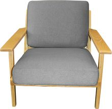 Hans Wegner Replica Plank Chair Grey Wool
